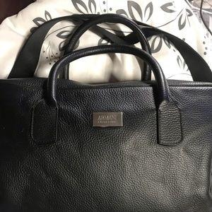 AUTHENTIC-Armani Collezioni Black Mens Laptop Bag